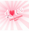valentines day love background poster template vector image vector image