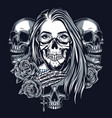 vintage chicano style tattoo monochrome concept vector image vector image