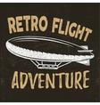 vintage fly print design Retro flight vector image