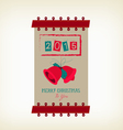 vintage merry christmas and happy new year banner vector image vector image