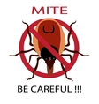 Symbol parasite warning sign Ticks be careful vector image