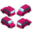 3d design for pink cars vector image