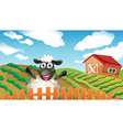 A black sheep inside the fence vector image vector image