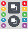 Active color toolbar icon sign A set of 12 colored vector image vector image