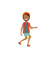 african boy kid wearing knee and elbow pads vector image vector image