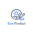 agriculture or farm product eco food circle stamp vector image