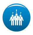 asking teamwork icon blue vector image