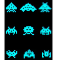 blue pixel figures vector image vector image