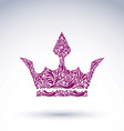Bright flower-patterned majestic crown best for vector image vector image