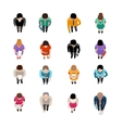 Business People Top View vector image