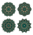Circular floral patterns of emerald lace flowers vector image