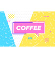 coffee in design banner template for web vector image