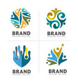 community colorful logo template vector image vector image
