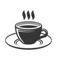 cup with hot tea or coffee on white background vector image vector image
