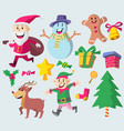 cute christmas character vector image vector image