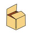 delivery box open cartoon vector image