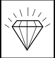 diamond icon vector image vector image