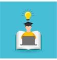 eduation online concept student knowledge school vector image vector image
