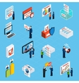 election campaign and voting isometric icons vector image vector image