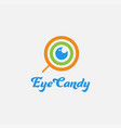 eye in candy logo icon template vector image