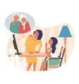 family online communication with grandparents vector image vector image