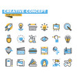 flat line icon pack for designers and developers vector image vector image