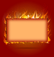 frame with fire vector image vector image