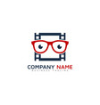geek video logo icon design vector image vector image