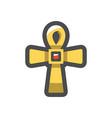 golden cross christianity symbol icon vector image