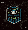 Golf club badge vector image