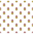 honey flower pattern seamless vector image vector image