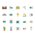 household appliances and things icon set flat vector image vector image