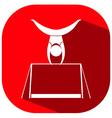 Icon design for gymnastics with bar vector image vector image