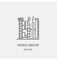 Industrial factory logo template Linear badge vector image