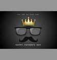 king dad fathers day concept poster design vector image