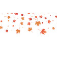 leaves background falling autumn maple vector image vector image