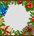 merry christmas border transparent background vector image vector image
