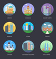 pack world cities 14 vector image