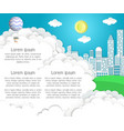 paper cut cityscape background vector image vector image