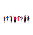 people friend unity hand character friendship vector image vector image
