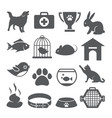 pet shop icons set on white background vector image vector image