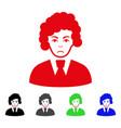 sad clerk woman icon vector image vector image