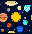seamless pattern sun and planets in vector image