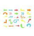 set different colors arrows vector image vector image
