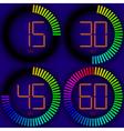 set digital timer vector image