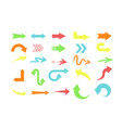 set of different colors arrows vector image