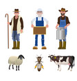 set of people of different professions vector image vector image
