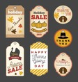 Set of Thanksgiving gift tags vector image vector image