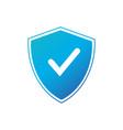 shield check mark logo icon design template vector image vector image