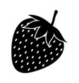 silhouette of strawberry on a white background vector image